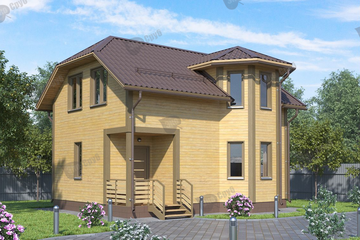 Дом из бруса 8x6 Д-51