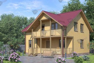 Дом из бруса 9x9 Д-23