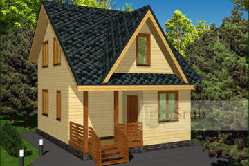 Дом из бруса 8x6 Д-18