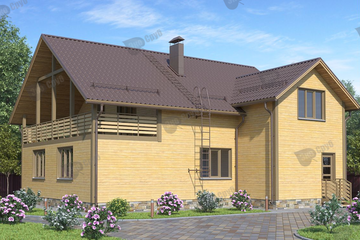 Дом из бруса 12х11.5 Д-55