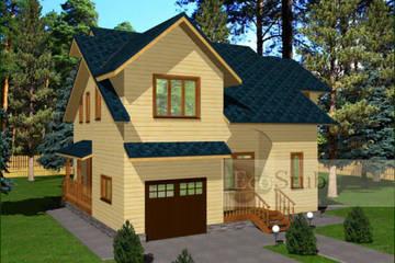 Дом из бруса 11.5x11 Д-39